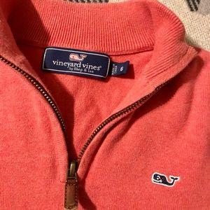 Vineyard Vines 🐳 Coral Boys Sweater